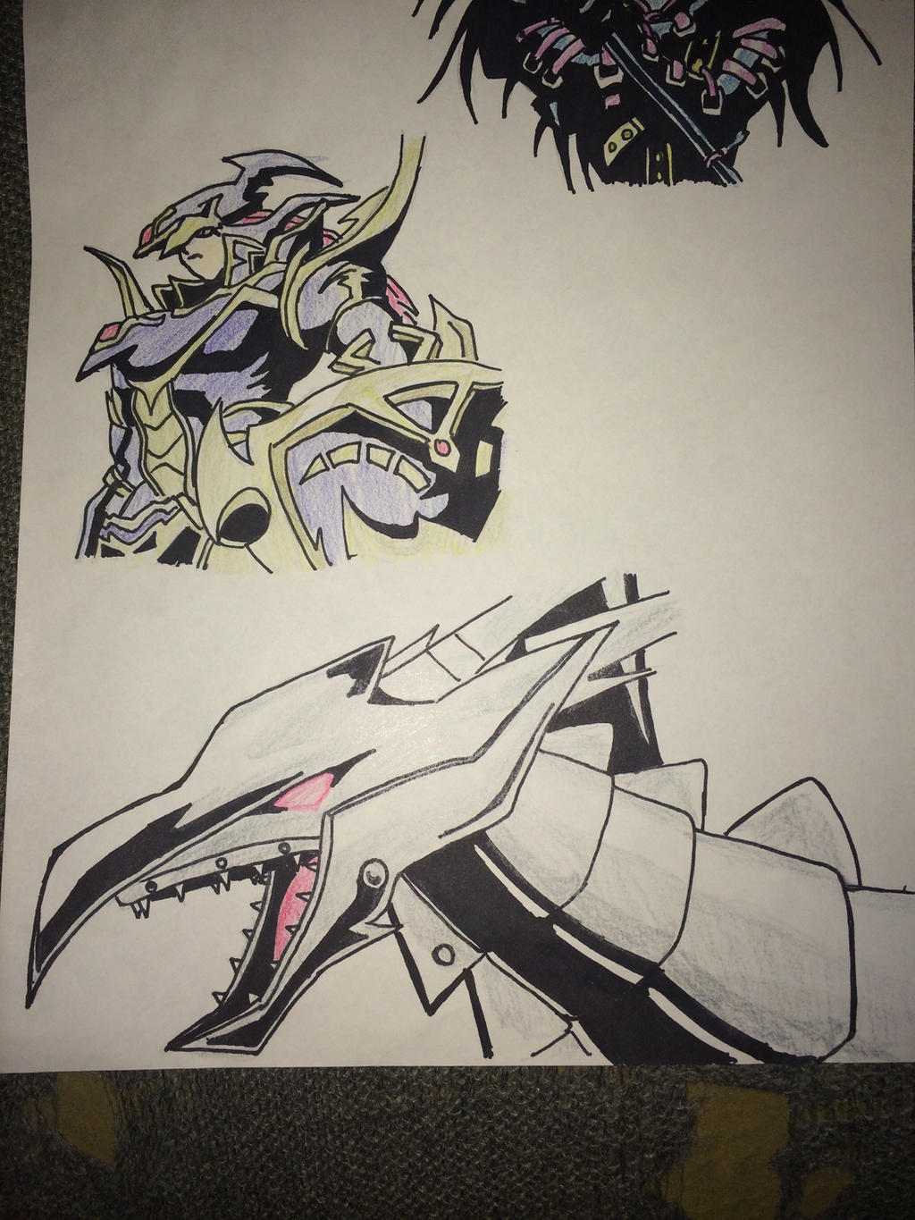 yugioh bls and red eyes black metal dragon by tinizel on deviantart