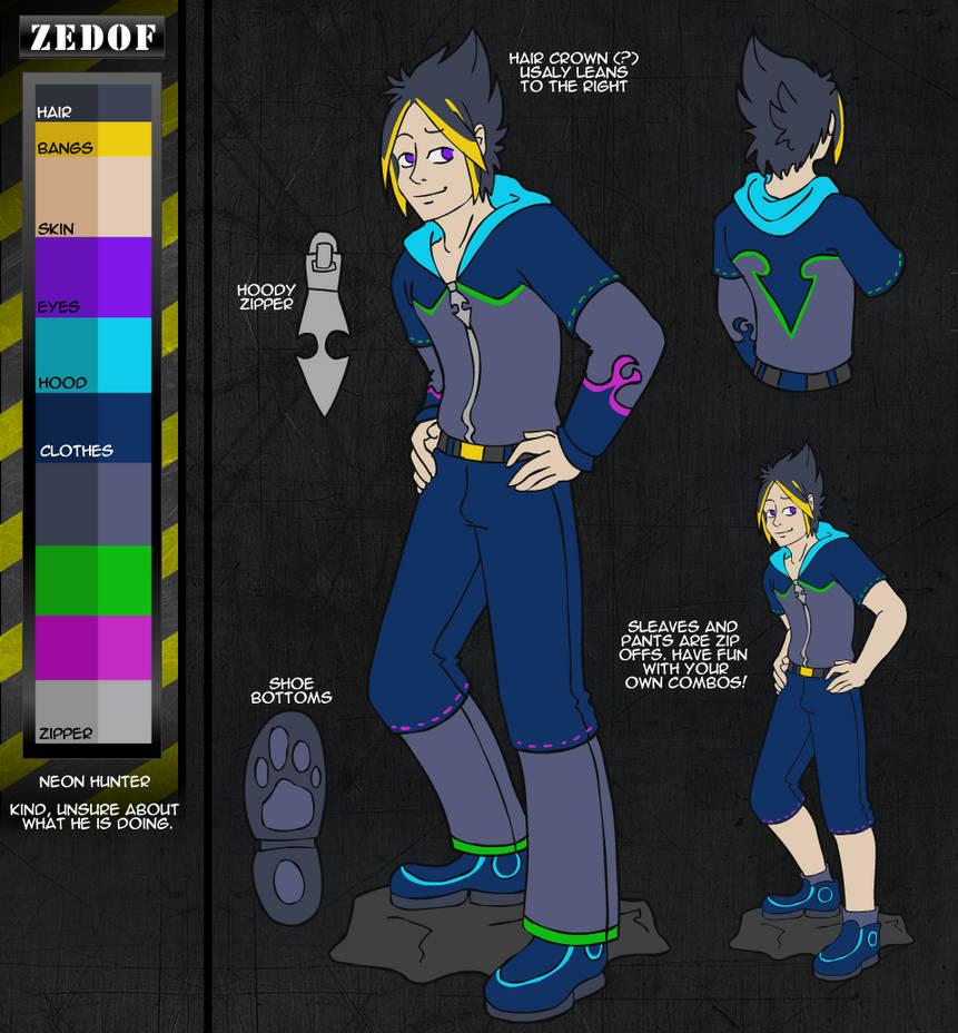 Zedof Reference Sheet by AlkseeyaKC