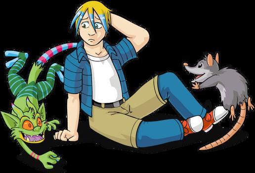 Jarad Maggot and Raccoon