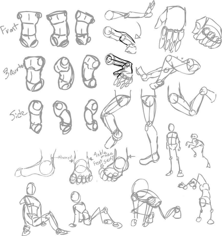 Body sketch set up by alkseeyakc on deviantart for Body movement drawing