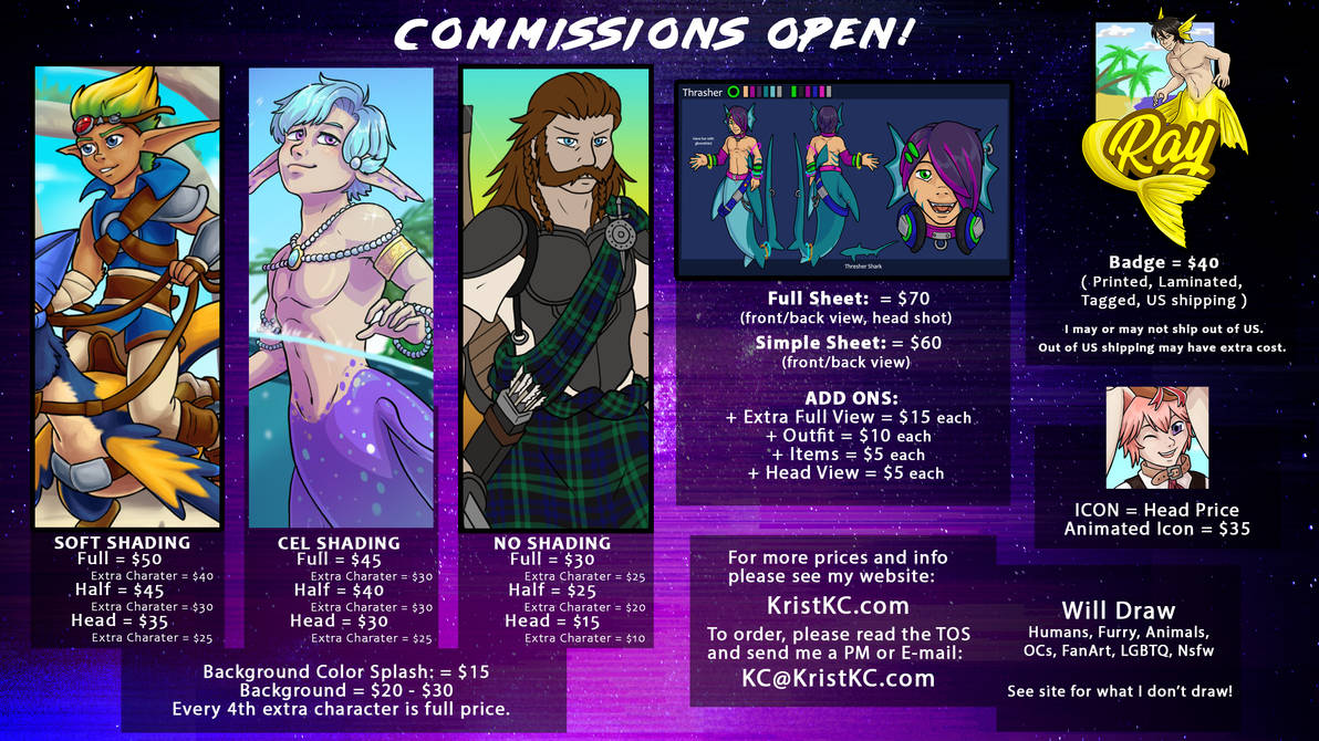 Price Sheet Commissions Open!
