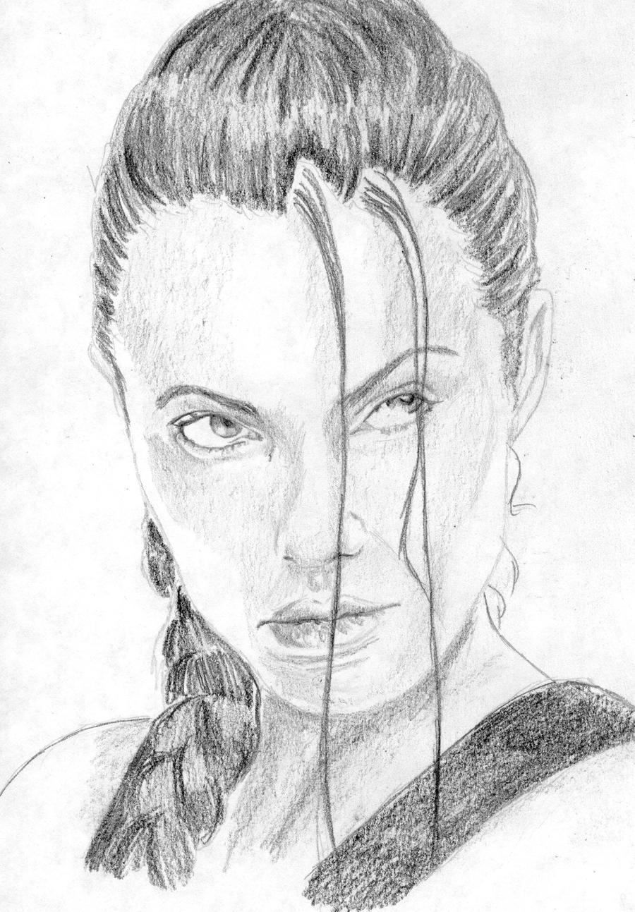 Angelina Jolie As Lara Croft  Tomb Raider By Shayca