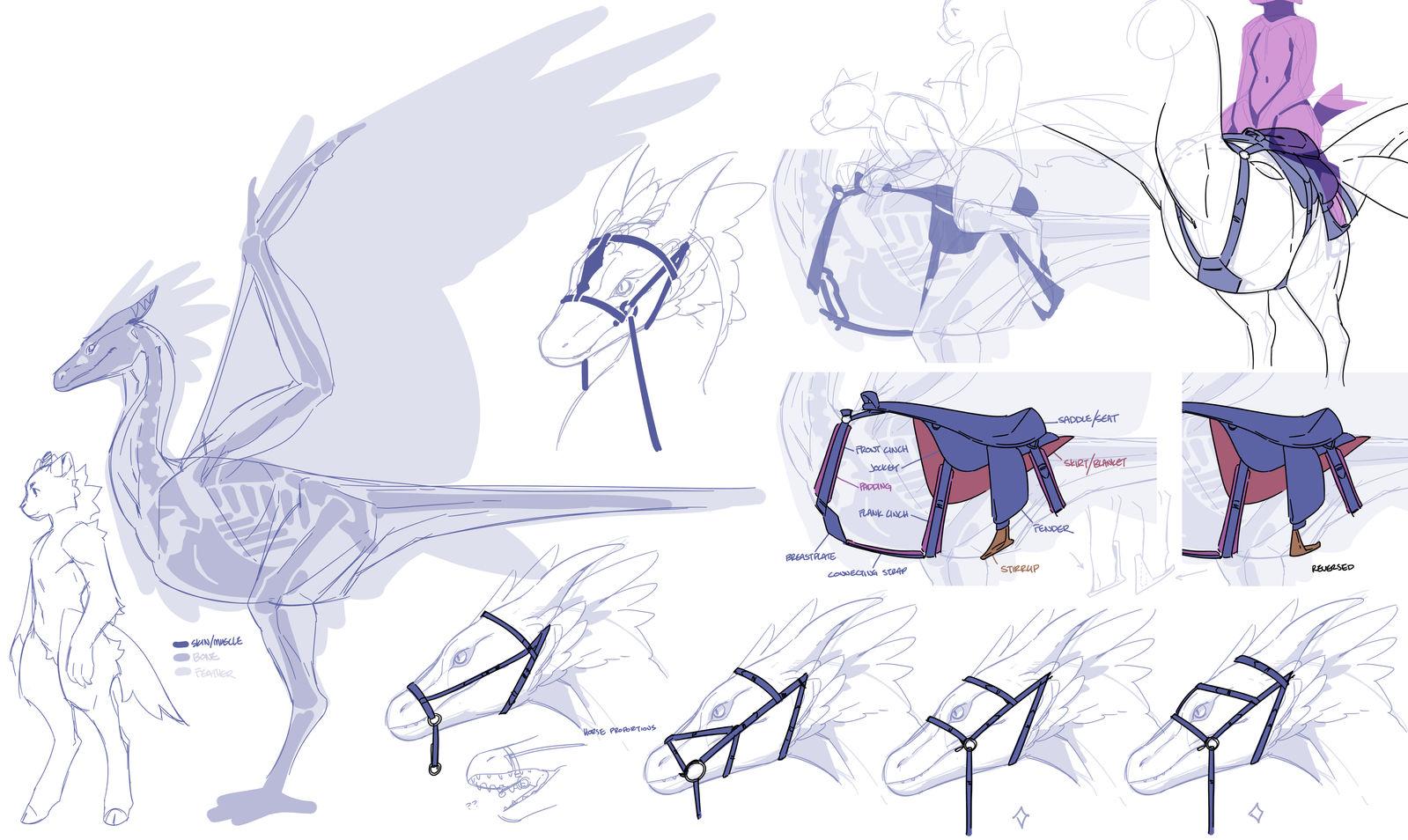Basic Drakern Tack by tordenvar