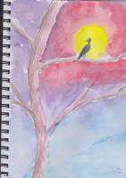 Bird at Sunset by sarah-multiple
