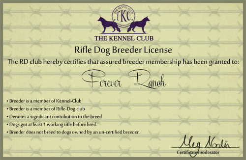Rifle-Dog Breeders license  by Ink-Bruises on DeviantArt