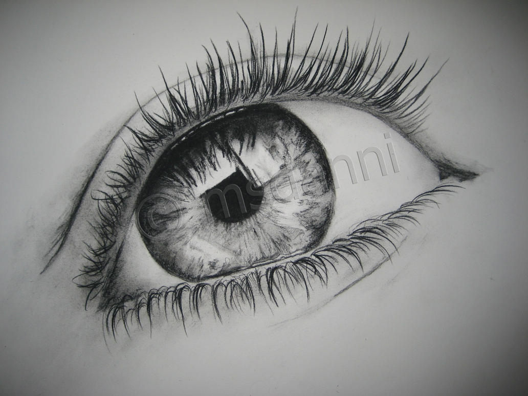 Charcoal eye by msdanni on DeviantArt
