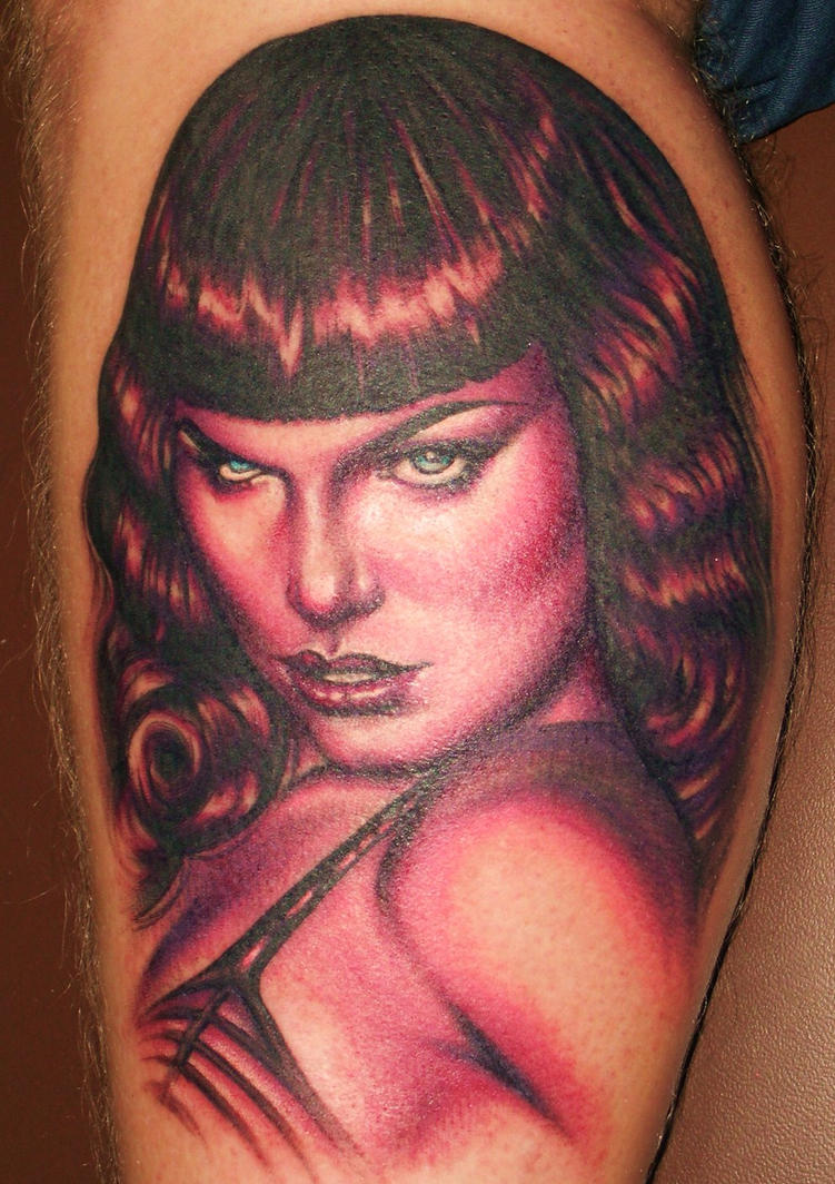 Betty Page Tattoo by ~ElectricLinda on deviantART