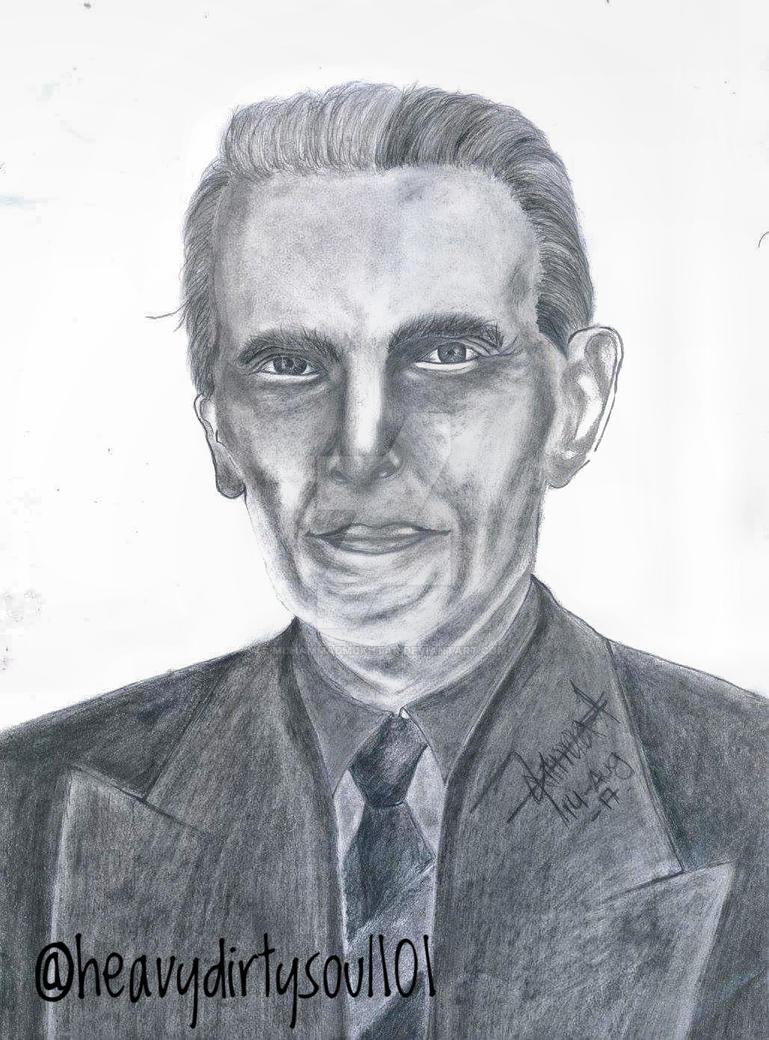 Quaid e azam sketch by muhammadmukhtar on deviantart