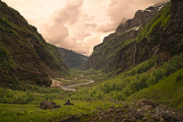 The Hobbits arriving in Rivendell by aw-landscapes