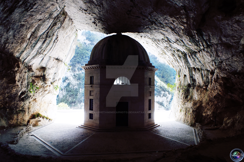The curch inside the cave by AnphetamineCAphoto