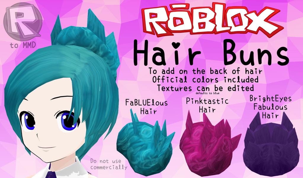 Hair Buns By RBLX2MMD On DeviantArt