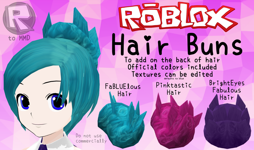 Mmd Parts Roblox Hair Buns By Rblx2mmd On Deviantart
