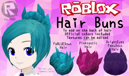 [MMD Parts] ROBLOX - Hair buns