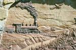 Iron Horse Brick Relief