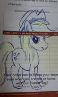 Applejack post it note