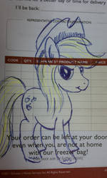 Applejack post it note