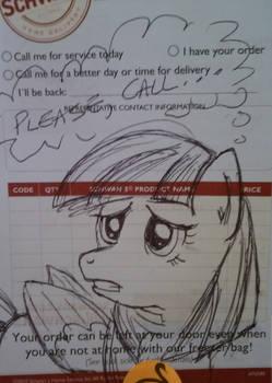 Another random pony sticky note