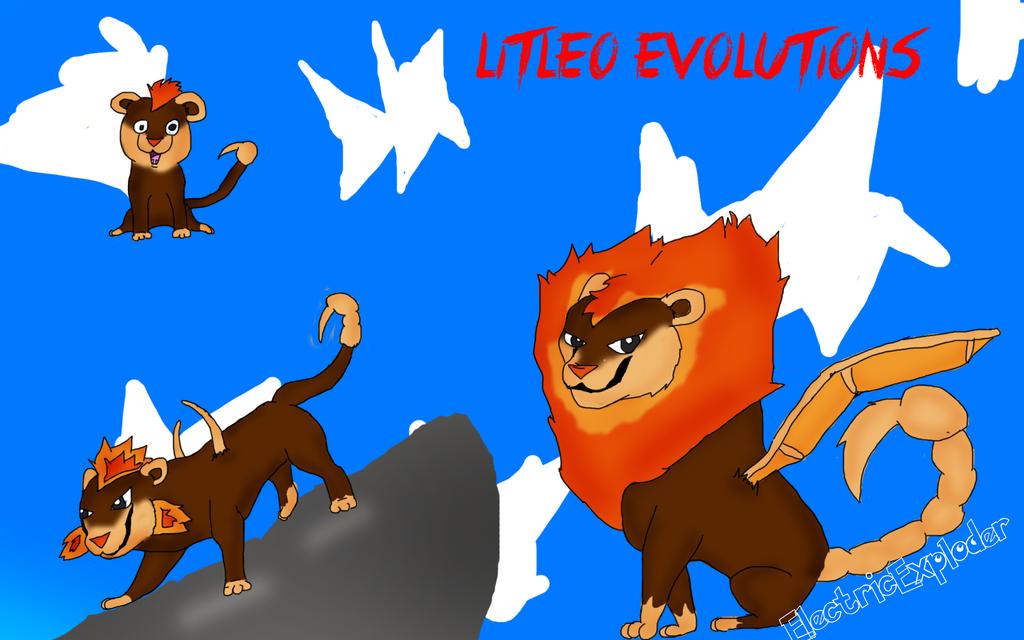 Litleo Evolutions by ElectricExploder on deviantART  Litleo