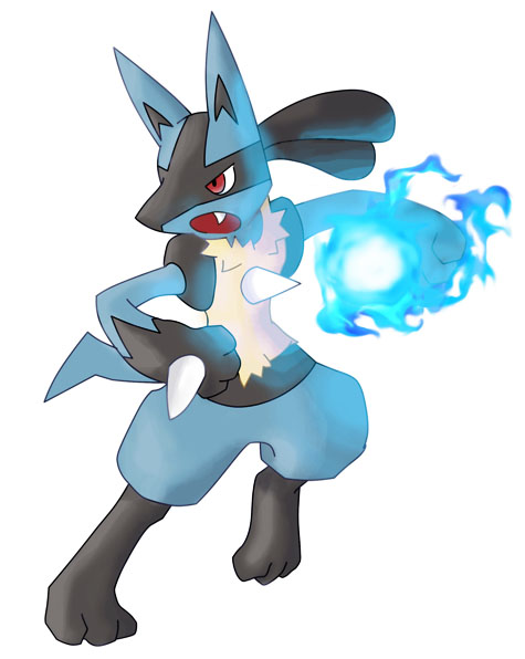 Tu pokémon preferido, y tu pokémon preferido por tipo Lucario__s_Aura_Sphere_by_TheBlueFlames