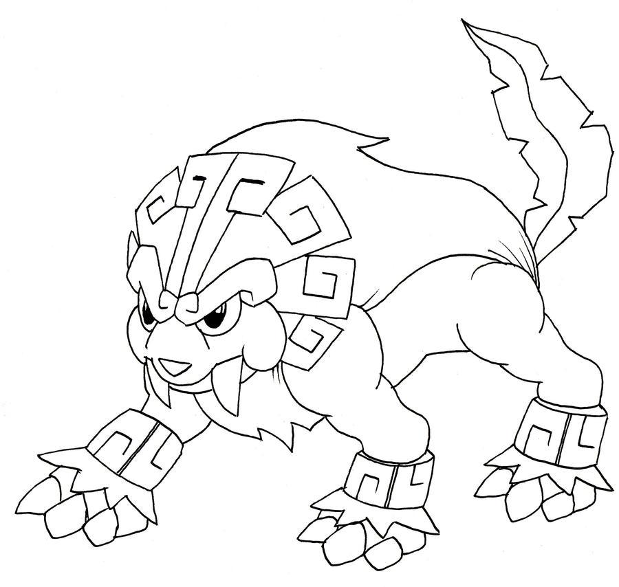 img lionatiuh legendary pokemon aztec lion pokemon grassfire type