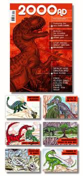 2000AD dinosaur comic cover