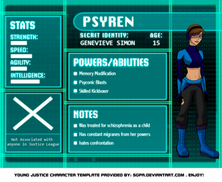 Young Justice Psyren Bio by WhyteTyger on DeviantArtYoung Justice Season 3 Character Bios
