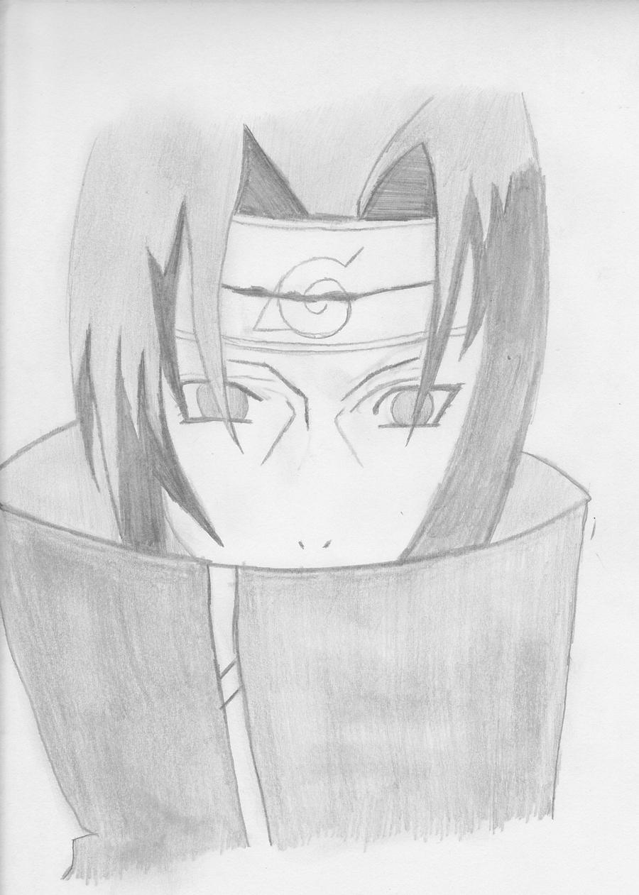 Itachi Drawing by Goku...