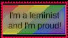 Feminist and Im proud stamp by SocialJusticeFem