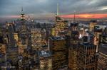 New York at sunset