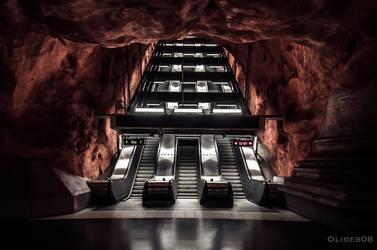 Stockholm Radhuset station by olideb08