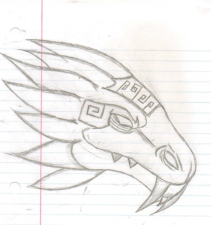 quetzalcoatl aztec drawing -#main