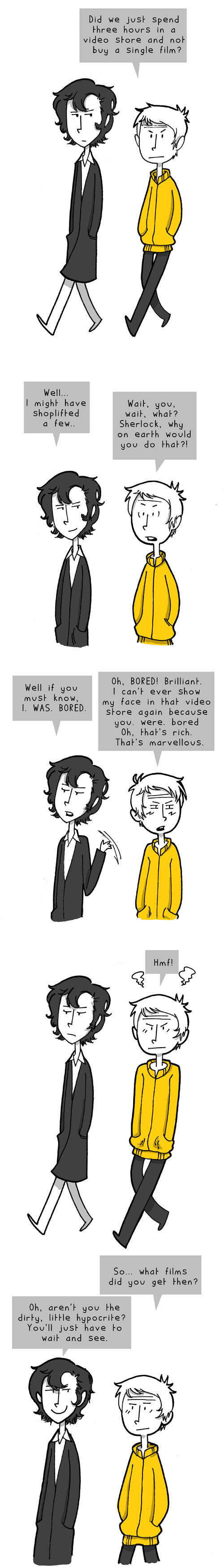 Sherlock the Shoplifter by weallscream4icecream