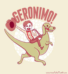Geronimo-Dino! by weallscream4icecream
