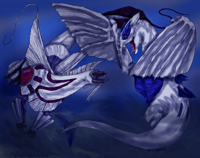 palkia vs lugia by umbrafoxpaws on deviantart