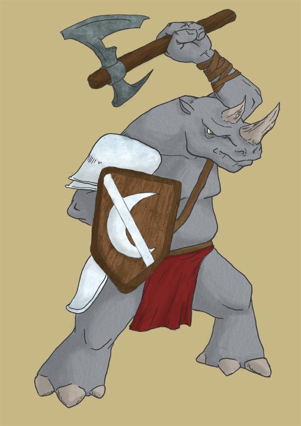 Rhox warrior by Adamanska
