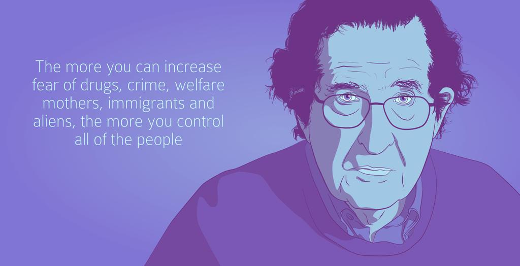 Noam Chomsky by Adamanska by Adamanska