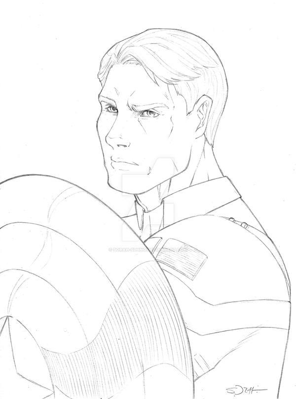 Captain America Sketch By Sorah-suhng On DeviantArt