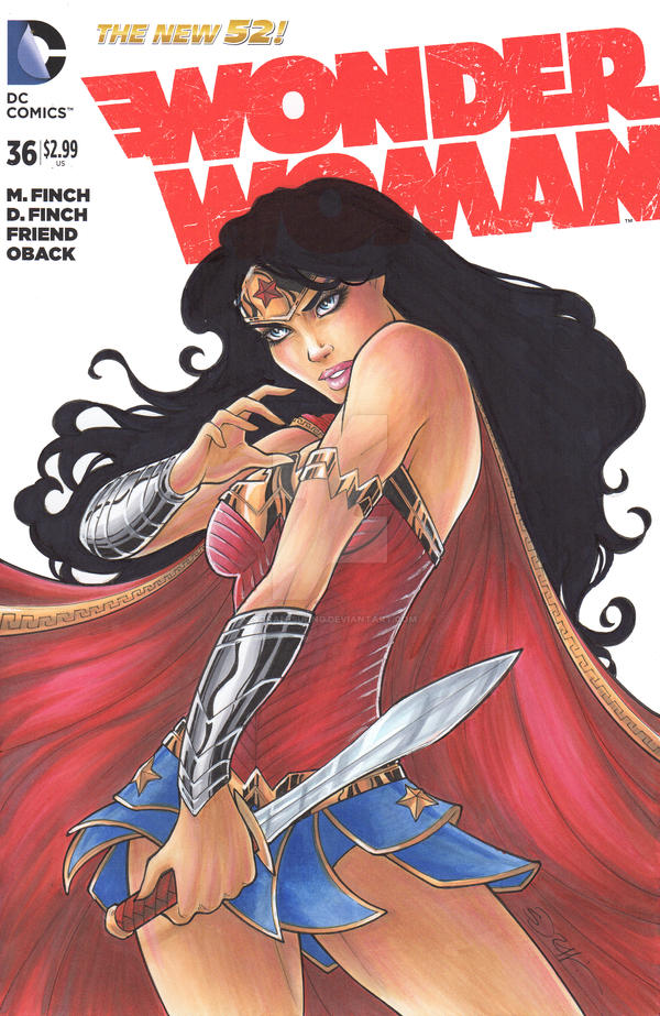 Wonder Woman Sketch cover by sorah-suhng