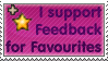 I Support Feedback for Favourites Stamp by TheWritingDragon