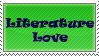 Literature Love Stamp by TheWritingDragon