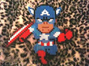 Perler Captain America