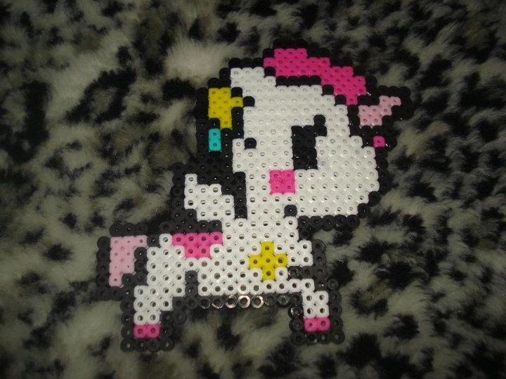 Tokidoki Unicorn Perler by PandaElle