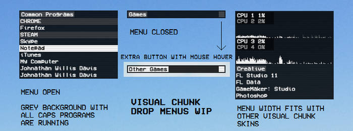 Visual Chunk Drop Menus WIP by Bonsewswesa