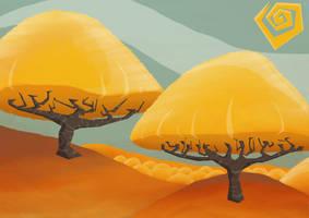 Golden Trees by RockyRoark