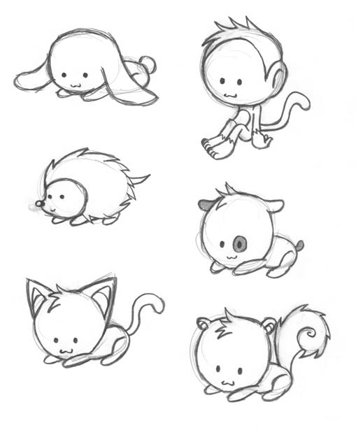 Cute Chibi Animal Drawings | www.pixshark.com - Images ...