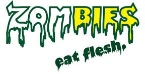 Zombies. Eat Flesh. -  Logo by Amarante-Ai