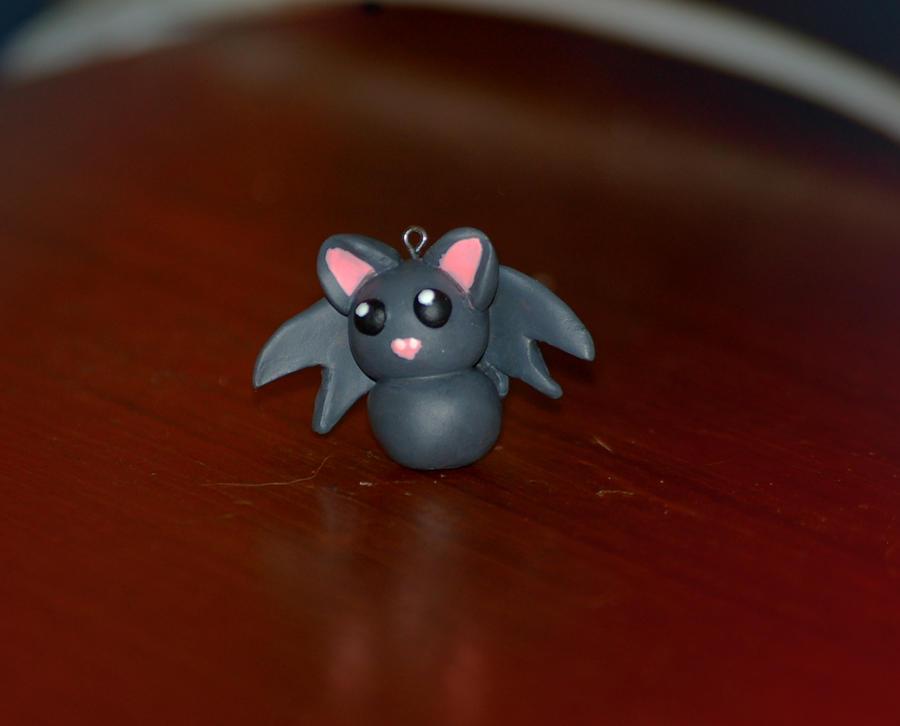 Chibi bat pendant by XxloneXwolfxX