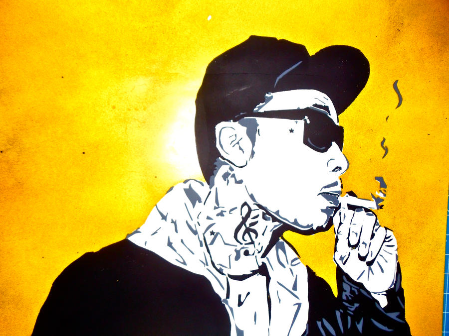 TGOD Stencil Hoodie - Wiz Khalifa