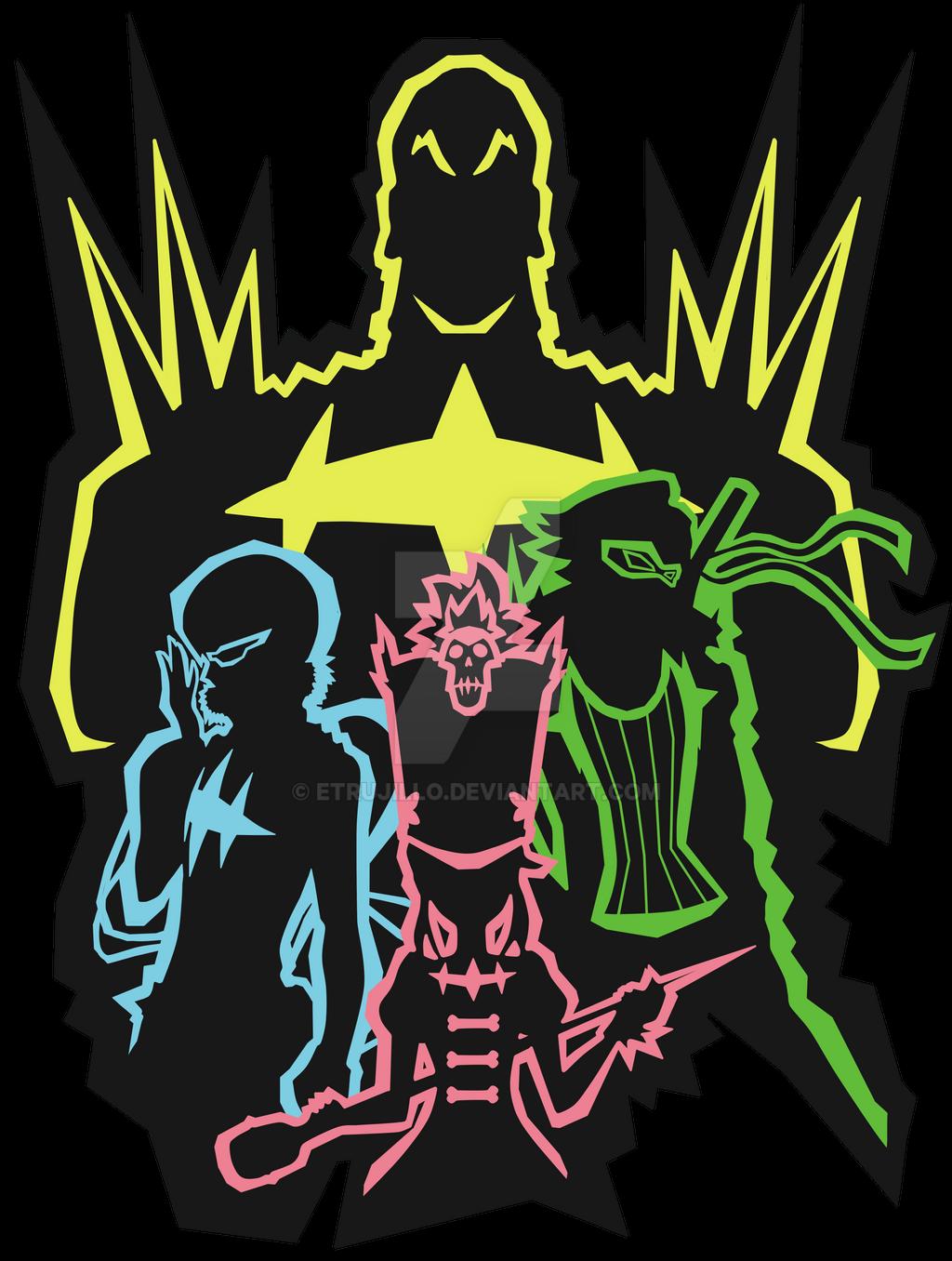 Shirt design wallpaper -  Elite Four Kill La Kill T Shirt Design By Etrujillo