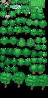 Tons of Tileset 1/10 - Light jungle trees